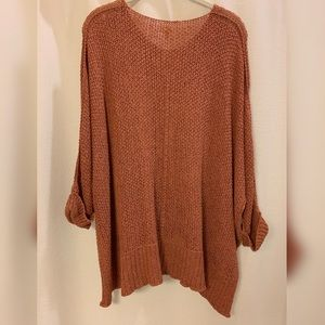 Vici Sweaters - Laid back knit sweater in ginger/brown